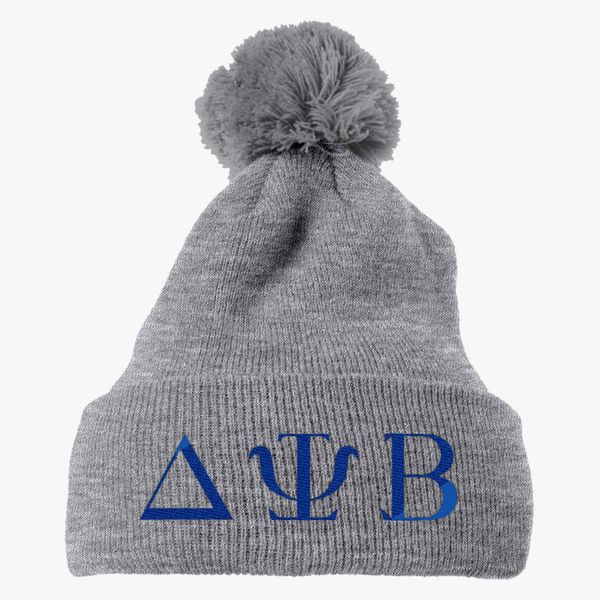 7211c3e8544 Delta Psi Beta Knit Pom Cap - Embroidery +more