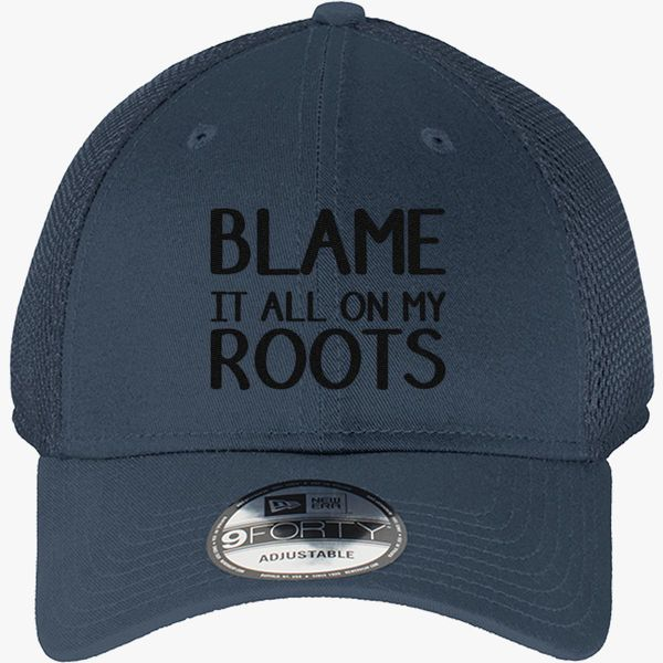 9bc3e9fd8 Blame it all on my roots New Era Baseball Mesh Cap (Embroidered) |  Hatsline.com