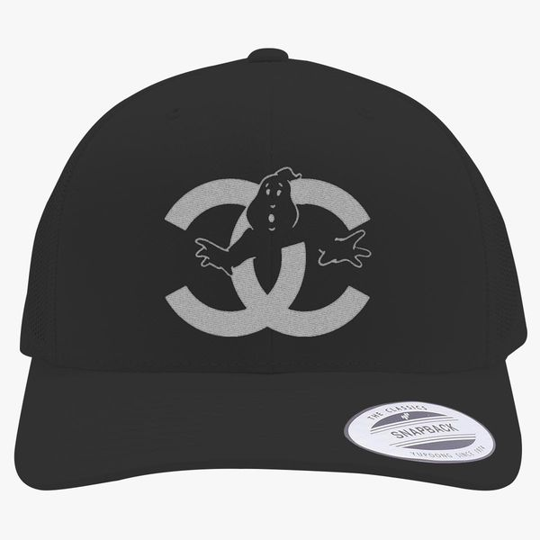 22837fa8eb4 chanel cc parody logo ghost Retro Trucker Hat - Embroidery +more