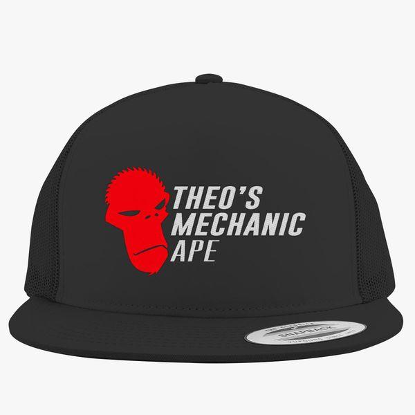 536cec0c2f3 Theo s Mechanic Ape Trucker Hat (Embroidered)