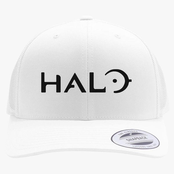 5c2560666fd35 Halo Game Logo Retro Trucker Hat