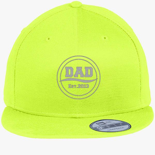 dad est2013 logo new era snapback cap embroidered