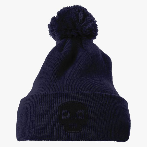 9986e3f7605 dad skull Knit Pom Cap - Embroidery +more
