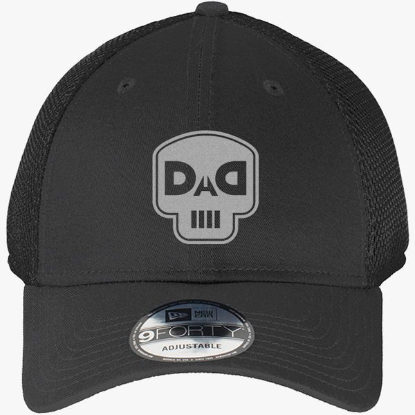 5dd333adbb4de dad skull New Era Baseball Mesh Cap - Embroidery +more