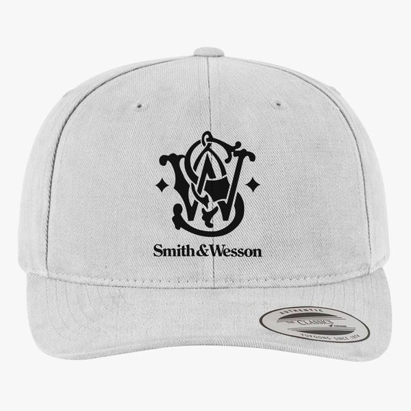 d254522ee Smith and Wesson Logo Brushed Cotton Twill Hat | Hatsline.com
