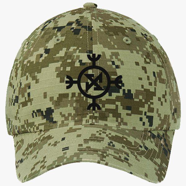 Ragnarok symbol Ripstop Camouflage Cotton Twill Cap - Embroidery +more a52c6260e61f