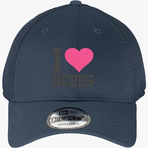1f7fba11ab707 I Love Nerds New Era Baseball Mesh Cap - Embroidery +more