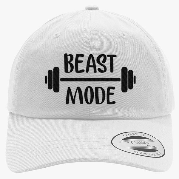 d5e19f90970 beast mode Cotton Twill Hat - Embroidery +more