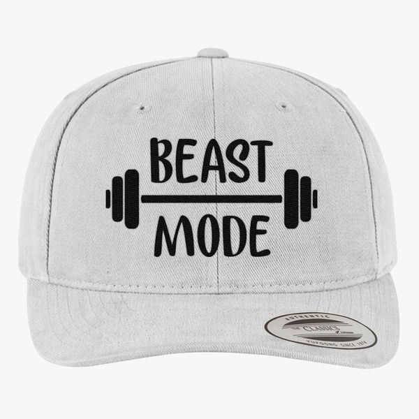 1d7bae0d6f0 beast mode Brushed Cotton Twill Hat - Embroidery +more