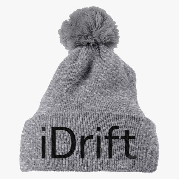 7285e343d1f I love drift Knit Pom Cap - Embroidery +more