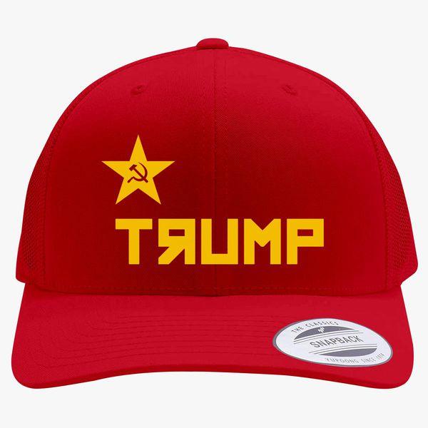 f63935c9d94 Trump CCCP Russian Retro Trucker Hat - Embroidery +more