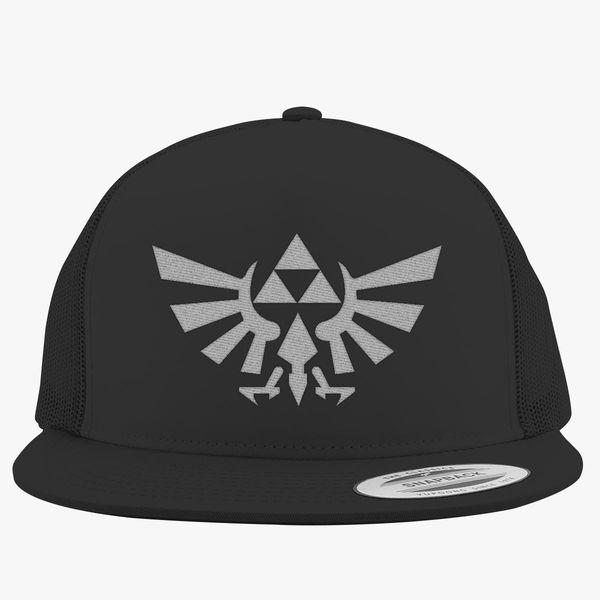 f6db0aa8d Zelda Triforce Symbol Trucker Hat (Embroidered) | Hatsline.com