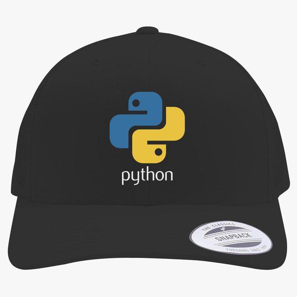Python Programming Logo Retro Trucker Hat  6b00e67b38f