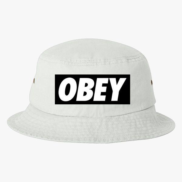 76cab1fce67 obey logo Bucket Hat