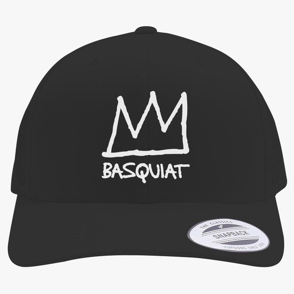 BASQUIAT Crown Logo Retro Trucker Hat +more d3e8a6b77c79