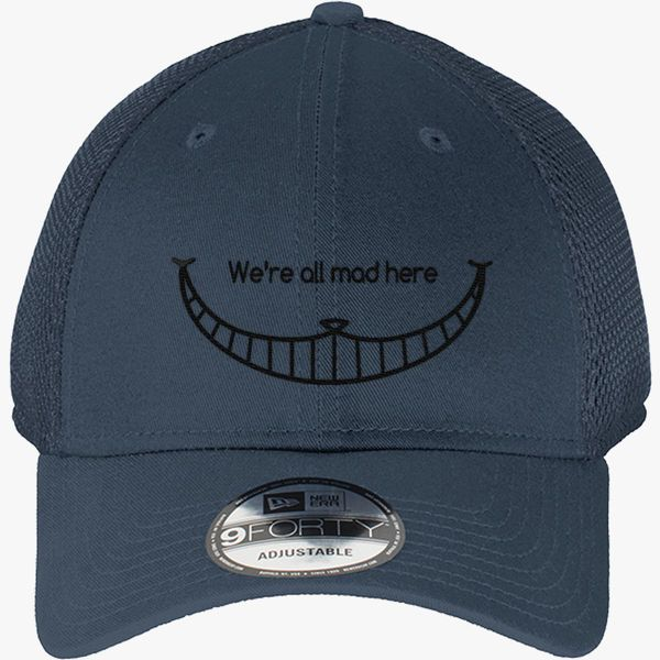 184a6d1ce65 We are all mad here - Cheshire Cat New Era Baseball Mesh Cap (Embroidered)