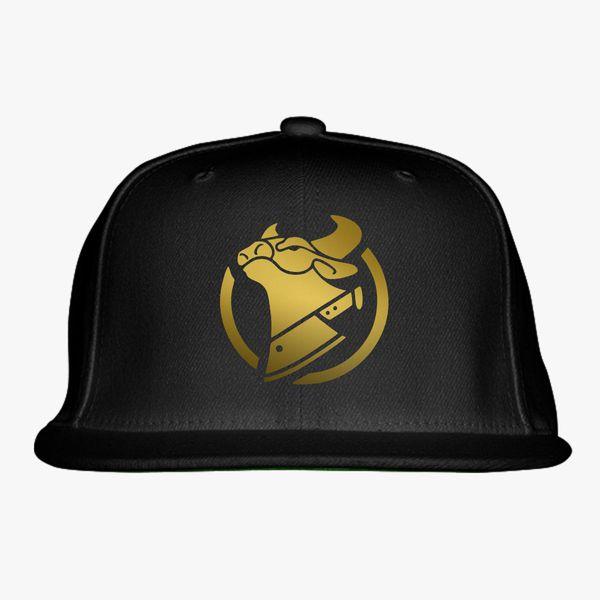 cow chop gold logo Snapback Hat  ec3303e324f6