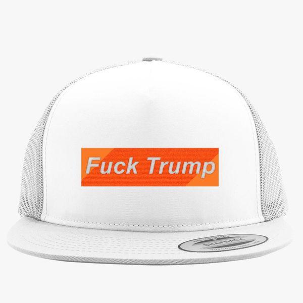 Fuck Trump Trucker Hat - Embroidery +more 065b520a885