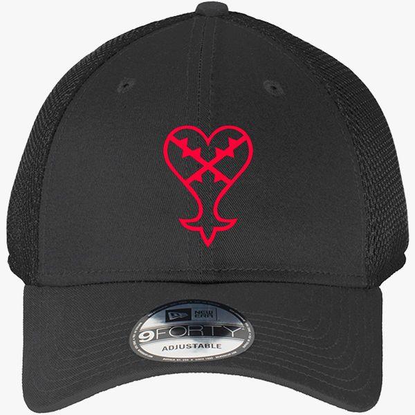 38a6675e2d3d0 Heartless Logo (Red) - Kingdom Hearts New Era Baseball Mesh Cap -  Embroidery +more