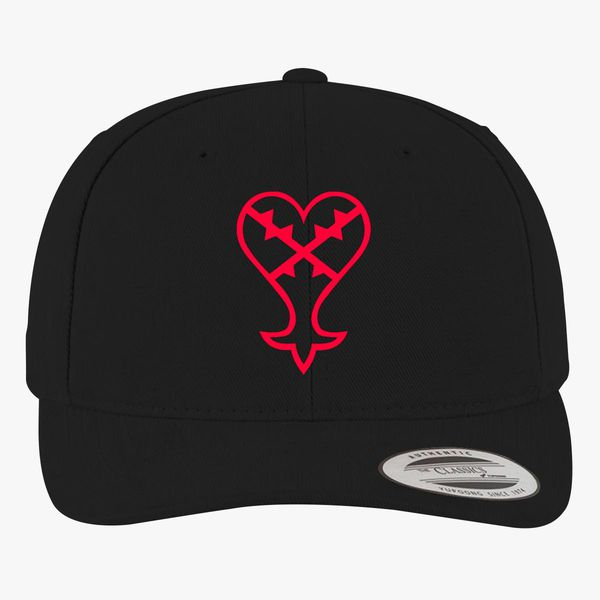 affordable price store cheap price Heartless Logo (Red) - Kingdom Hearts Brushed Cotton Twill Hat ...