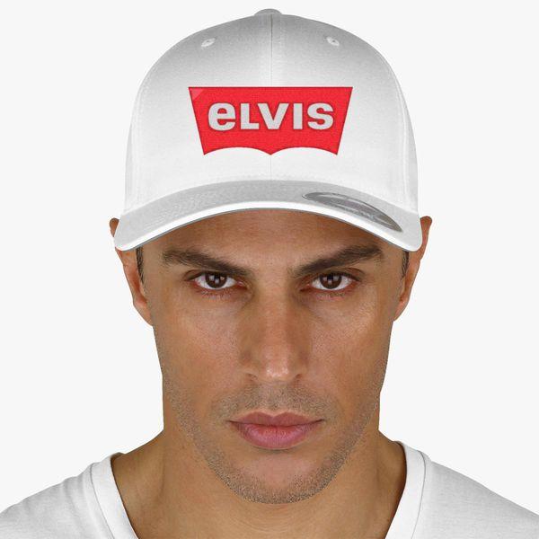 07b37808 ELVIS - Levis Style Logo Baseball Cap (Embroidered) | Hatsline.com