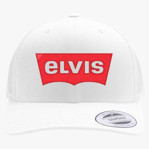1b5a6929 ELVIS - Levis Style Logo Retro Trucker Hat (Embroidered) | Hatsline.com