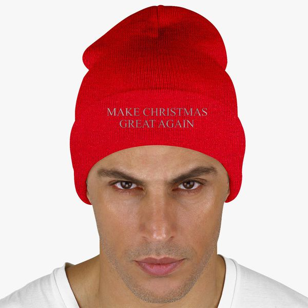 f87537cf1 Make Christmas Great Again Knit Cap (Embroidered) | Hatsline.com