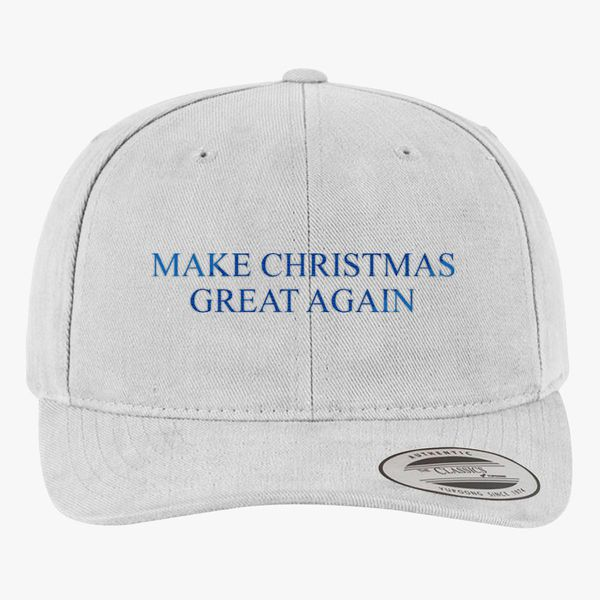 61583bec80966 Make Christmas Great Again Brushed Cotton Twill Hat - Embroidery +more