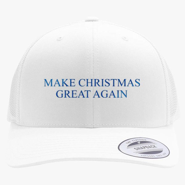 8afd7d680ee33 Make Christmas Great Again Retro Trucker Hat - Embroidery +more
