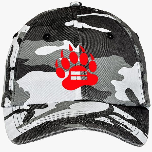 3f324109 Red Bear Paw Camouflage Cotton Twill Cap (Embroidered) | Hatsline.com