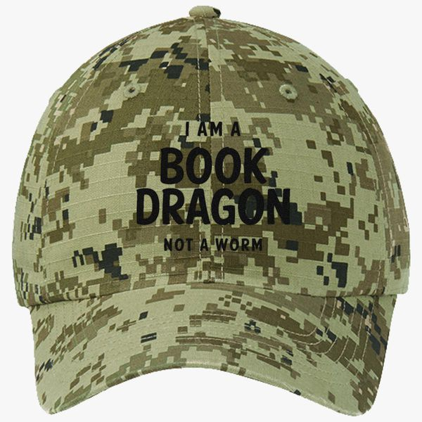 36c2bc696469d I Am A Book Dragon Ripstop Camouflage Cotton Twill Cap (Embroidered ...