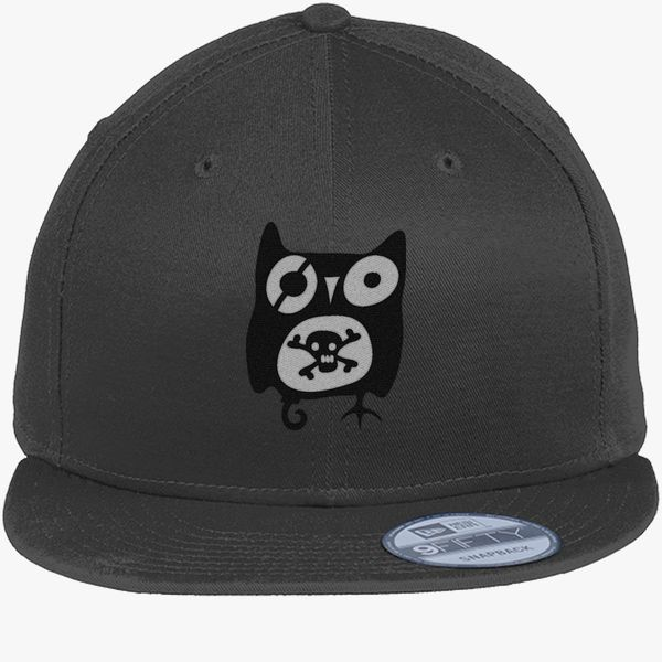6efc5a0dd4c Owl with Skull New Era Snapback Cap - Embroidery +more
