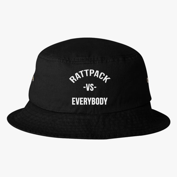 05e58ca9038e5 RattPack VS Everybody White T-Shirt Bucket Hat - Embroidery +more