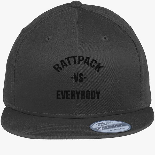 63f155462ac38 RattPack VS Everybody Black T-Shirt New Era Snapback Cap - Embroidery +more