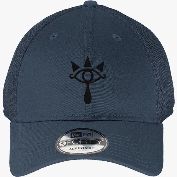 100343e1e Sheikah Symbol from The Legend of Zelda New Era Baseball Mesh Cap  (Embroidered) | Hatsline.com