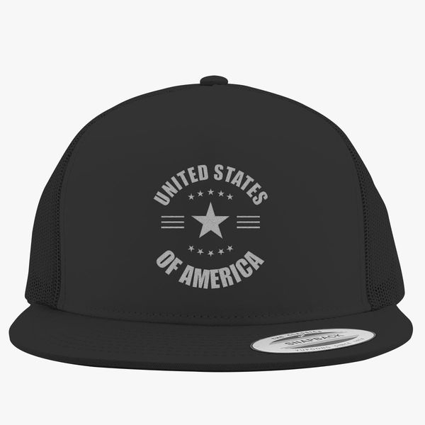 473a861e7c1 United States of America - 4th of July Trucker Hat - Embroidery +more