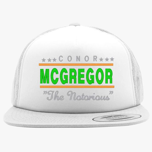 3503cbb1ff3 CONOR MCGREGOR THE NOTORIOUS Foam Trucker Hat +more