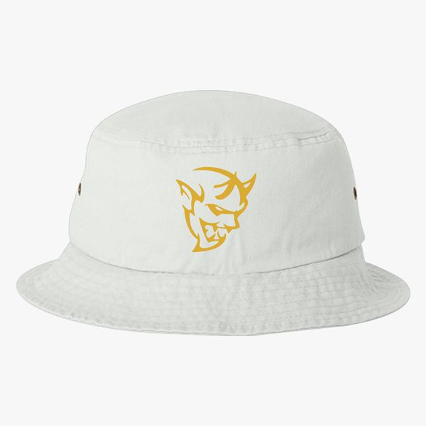dodge demon face gold Bucket Hat - Embroidery +more 9e5fa2ccd49