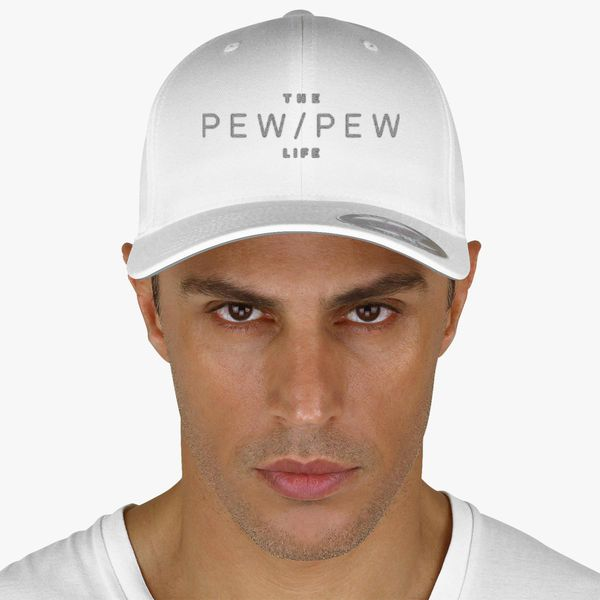 850bf4ff19cf1 The pew pew Life - Silver Baseball Cap - Embroidery +more