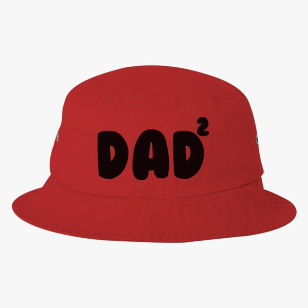 57e7a27d600 Dad Of 2 Bucket Hat - Embroidery +more