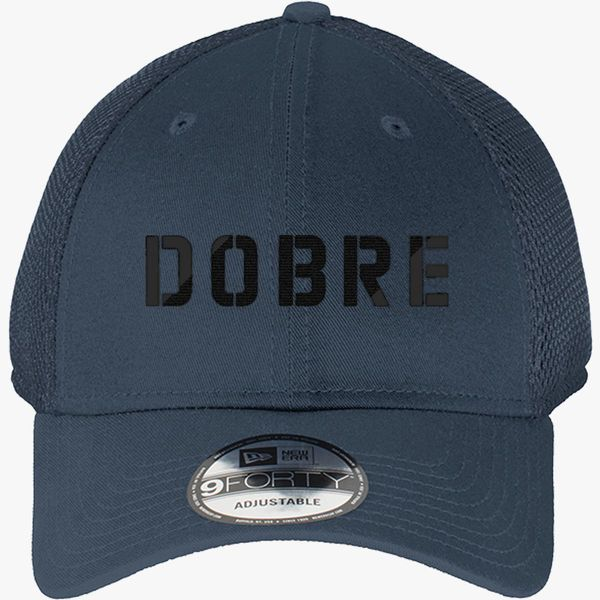 989816eed65 Dobre Twins black New Era Baseball Mesh Cap - Embroidery +more