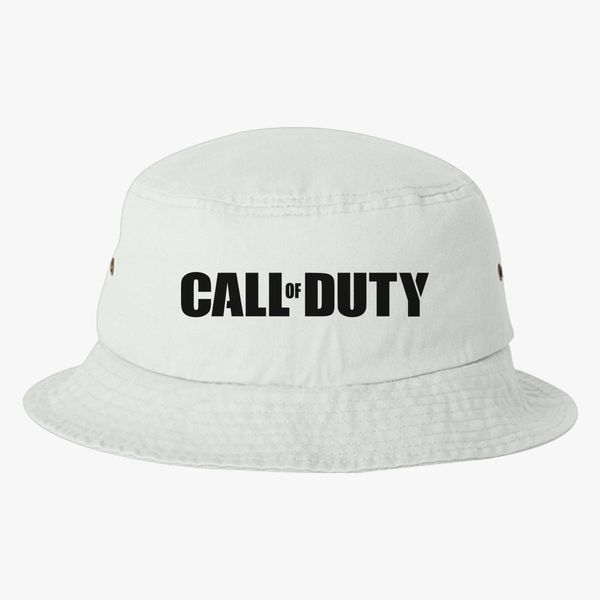 3f656c7b585fc Call of Duty Black Bucket Hat - Embroidery +more