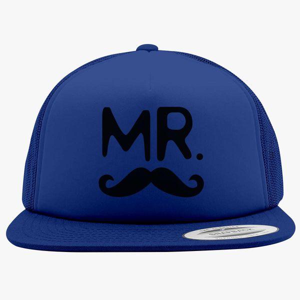 b677c182fab Mr Mustache and Mrs Lips Foam Trucker Hat ...