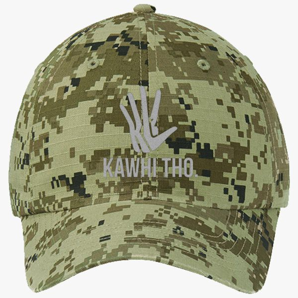 6eca28076cfe85 KAWHI THO Ripstop Camouflage Cotton Twill Cap - Embroidery +more