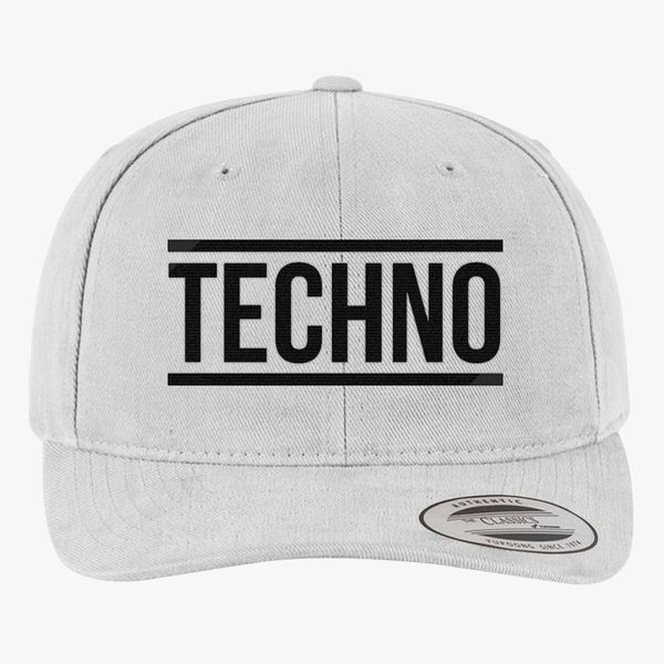 Techno Brushed Cotton Twill Hat - Embroidery +more 2f0dd117c4d6