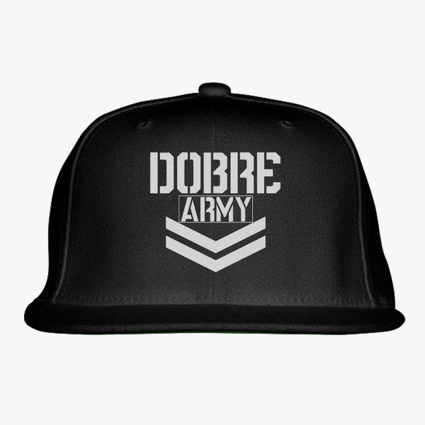 d6c5a76fea93a Dobre Twins Dobre Army White Snapback Hat - Embroidery +more
