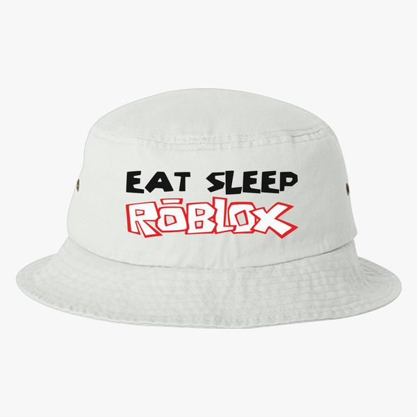 Eat Sleep Roblox Bucket Hat Embroidered Hatsline Com