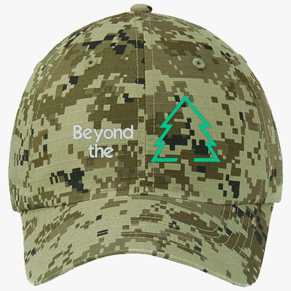 b96c68743e0d8 Beyond The Sugar Pine 7 Ripstop Camouflage Cotton Twill Cap - Embroidery  +more