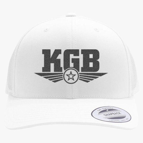 0e811bed50cce Soviet KGB Logo Retro Trucker Hat - Embroidery +more