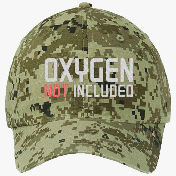 ba37894a6 oxygen not included Ripstop Camouflage Cotton Twill Cap (Embroidered ...